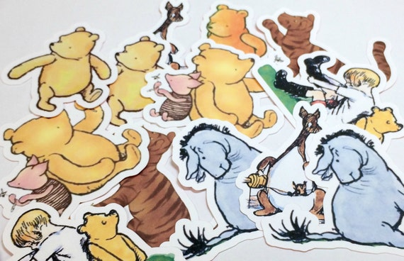 Large Winnie the Pooh Die Cuts,Cut Outs,Paper Embellishments,Scrapbooking Die Cuts,Winnie the Pooh Die Cuts,Winnie the Pooh Baby Shower