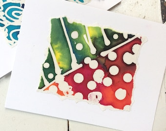 Colorful Paper Batik Note Cards, Batik Summer Note Cards, Colorful Note Cards, Handmade Batik Note Cards, Paper Goods, Abstract Batik