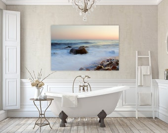 Breaking Rock ~ Westerly, Rhode Island, Canvas, No Frame Needed, Beach Photography, Ocean Waves, Coastal Home Decor, Wall Art, Nautical Art