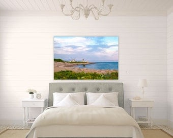 Point Judith Lighthouse ~ Narragansett, Rhode Island, Canvas, Photography, Wall Art, Home Decor, Sunset, Ocean, Seascape, Coastal, Beach