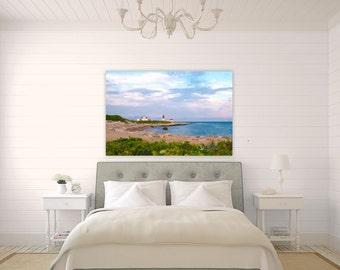 Point Judith Lighthouse ~ Narragansett, Rhode Island, Canvas, Photography, Wall Art, Home Decor, Sunset, Ocean, Seascape, Coastal, Beach