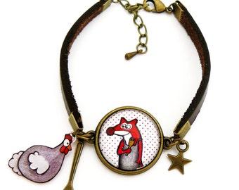 Fox and chicken bracelet