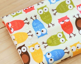 Owls Laminated Cotton Fabric By The Yard