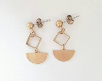 Enya Earrings   Brass