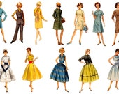 Retro Girl Planner Stickers Retro Vintage  Planner Stickers  Planner Decor Sewing Pattern Ladies