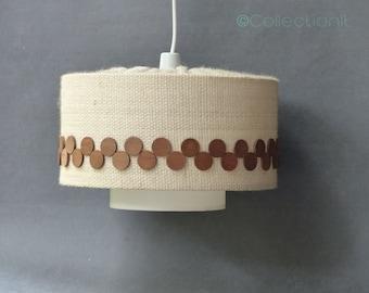 Lin and teak Scandinavian style - linen and teak Lighting - suspension