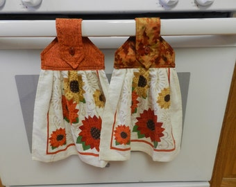 Autumn hanging towels, Fall hanging towels, Kitchen hanging towels, Hanging towels, Kitchen towels, Fall kitchen towel, Hand towel Item #229