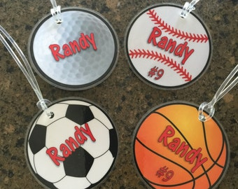 NEW!!  Sports Luggage Tags
