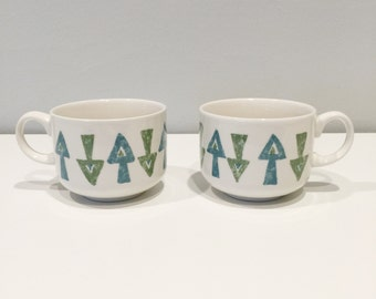 set of two mugs with arrows made in England