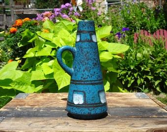 Mid Century Modern Ilkra Edelkeramik Fat Lava Vase 153 18 | German Pottery | Mid Century Pottery | Pottery | Made in Germany | 1960s Pottery