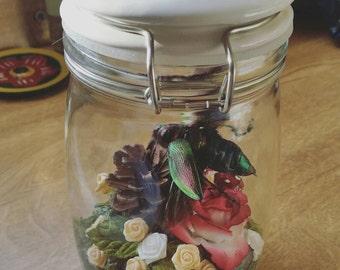 Handmade vintage beetle jar.