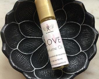 Ma Organics Perfume Oil Aromatherapy Love Jasmine Rose Sandalwood