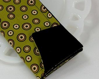 Fabric lunch napkins, reversible cloth napkins, green cotton napkins, tabletop decor, green home decor, 2 sided napkins, 12x12 set of 4