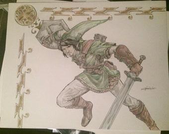 Custom hero or villian art work