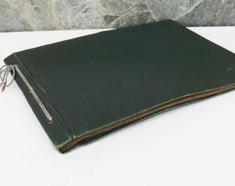 Vintage green vinyl Leather  Album Pictures, Retro Photo Album, Vintage  Photos Cover, green photo album