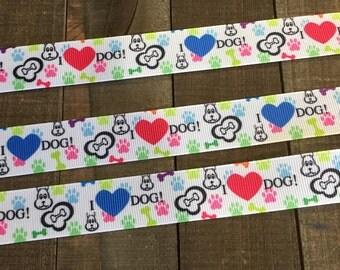 Dog Ribbon, I love my dog ribbon