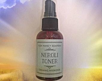 NEROLI TONER, Organic Neroli  Hydrosol, Orange Blossom Hydroso,Facial Toner