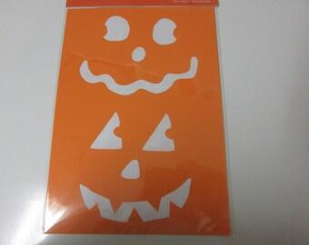 Halloween Stencils-4 Pumpkin Face Stencils