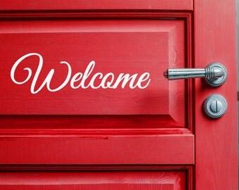 Welcome Door Decal - Front Door Sticker