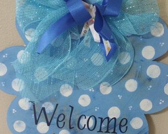 Door Hanger/Flower/Blue
