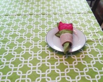 Christmas Table Cloth Green White Linen Wedding Reception Banquet