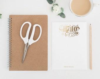 Handwritten Hello Stationery Cards