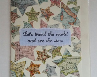 Let's Travel the world and see the stars card