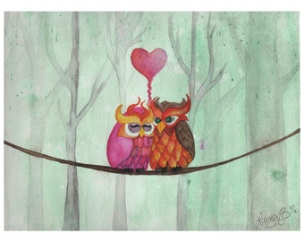 Two Hoots - PRINT