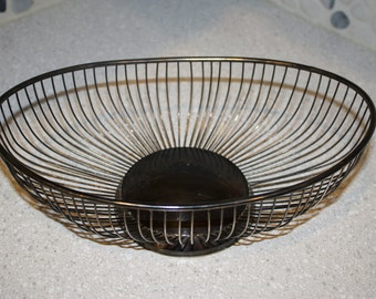 silver plated bread basket or roll basket