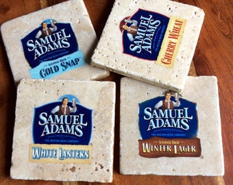 Sam Adams Beer Bottle Label Coasters
