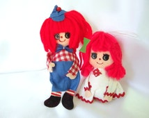 Vintage Christmas Ornaments - Raggedy Ann and Andy Ornaments