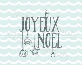 Joyeux noel SVG Vector File.  Merry Christmas So many uses! Cricut Explore and more! Joyous Noel Snowflakes Stars Joyous Noel