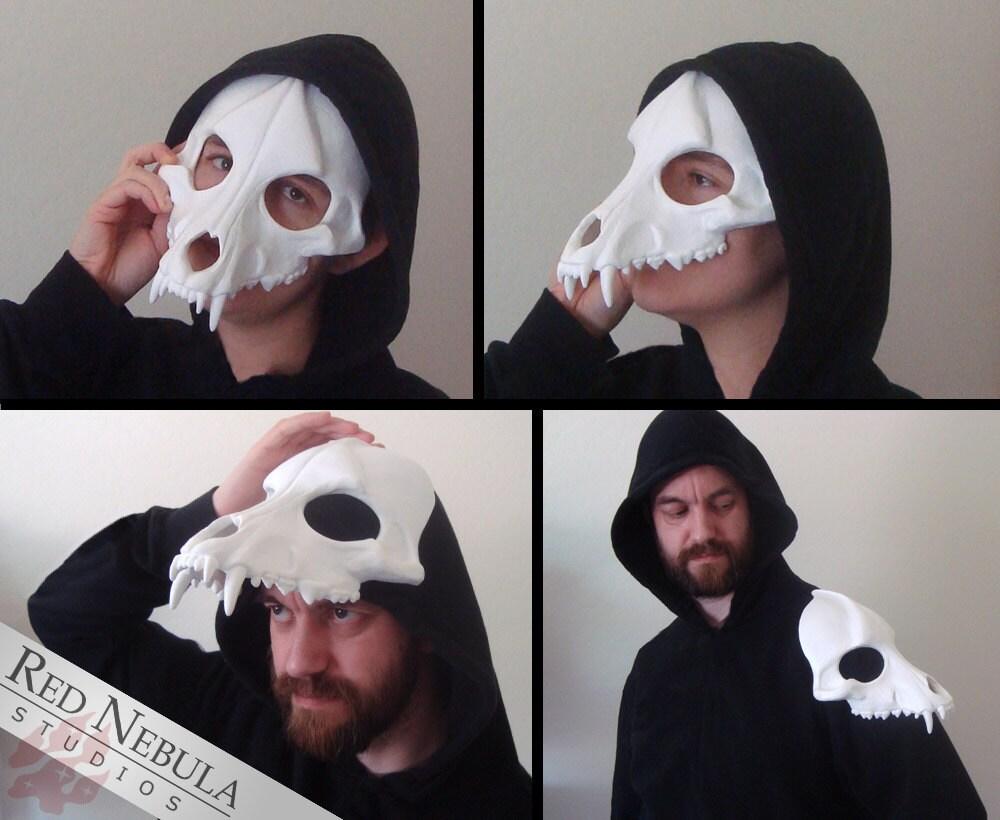 Wolf Skull Mask Blank Cast Resin Skull Canine Skull Face
