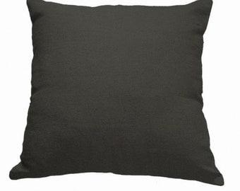 Plain Linen Cushion- Plain Black Cushion- Black Cushion- Black Pillow- Plain Pillow- Black Linen- Black Throw Pillow- Plain Cushion Cover