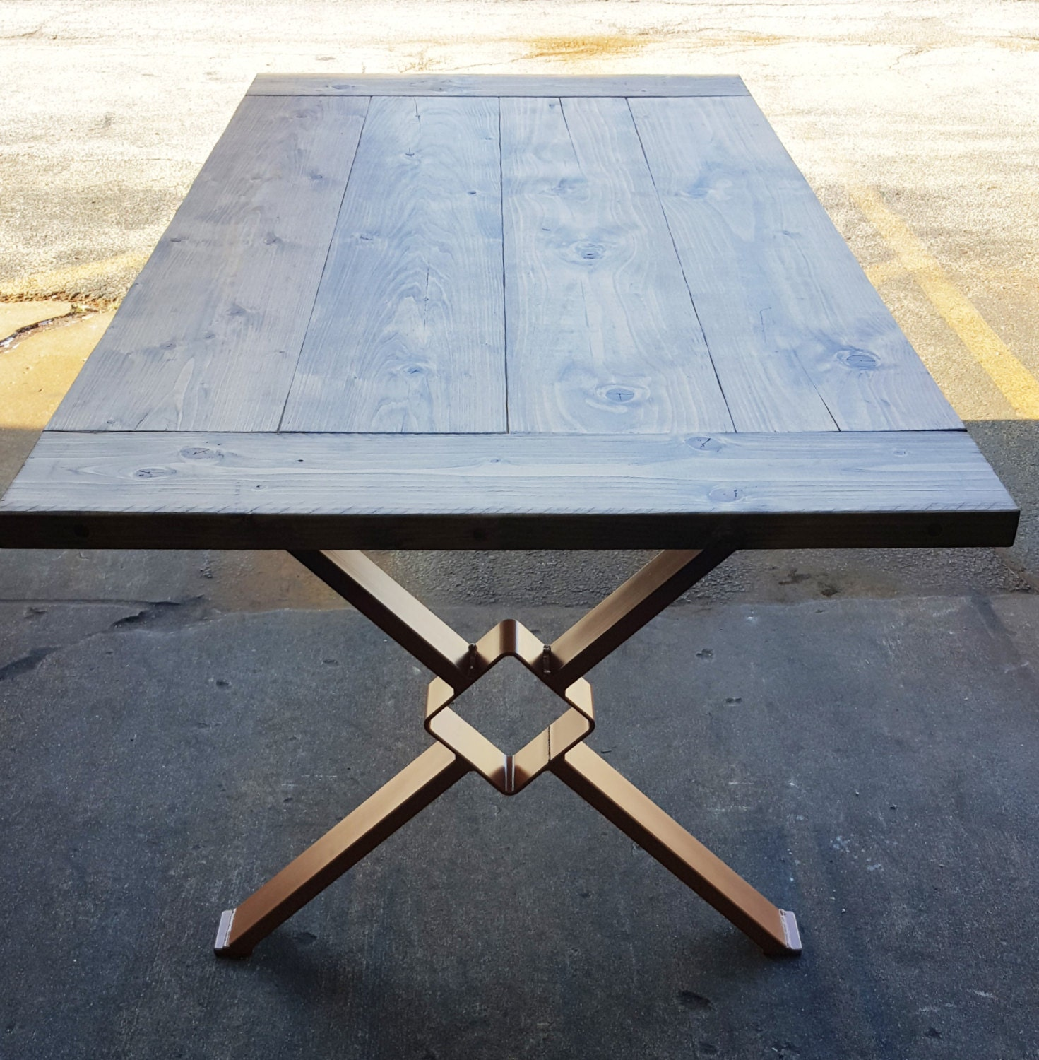 Modern dining table x legs model tt11 industrial legs - Table a manger industrielle ...