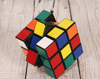 Rubik's cube - Vintage original Rubic cube - Puzzle cube - Brain game - Old logic game - Hungarian 3D puzzle square - Magic cube - Old toy