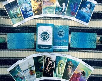 78 Tarot Nautical - Tarot of the Water - Just the Deck - LE - divination, occult, Indie Deck, Sea Tarot, Water Tarot, Ocean Tarot