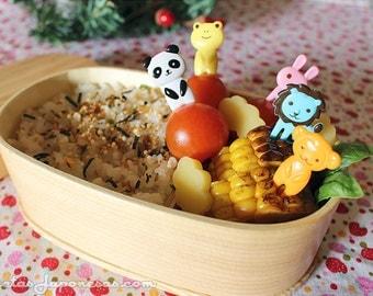 Set of 10 decorative animals / forks for Bento