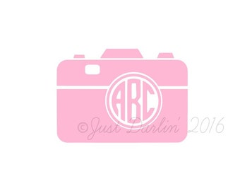 Photography Decal - Camera Decal - I Love Photography - Tumbler Decal - Custom Monogram - Cooler Decal - Window Decal - Camera Sticker
