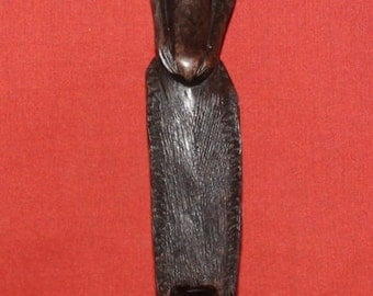 Vintage Hand Carving Wood African Male Statuette
