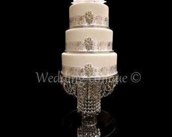 Glass Crystal chandelier cake stand (Annabelle) wedding cake stand