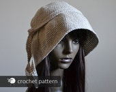 Audrey Linen Sunhat - Crochet Pattern (PDF file), One Size Woman Adult