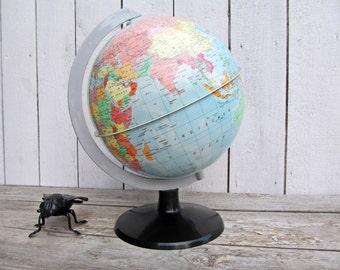 Vintage World Globe 80s world map