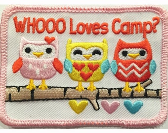 Whooo Loves Camp Patch for Girls