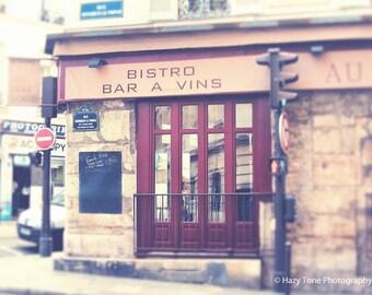 Paris Cafe Photo, Paris Photography, France Art, Kitchen Decor, French Cafe, Maroon, Wall Art Print, Paris Photos, Pictures, 8 x 10 Print