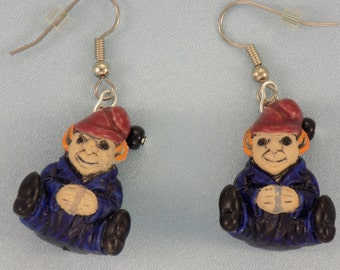 Sitting Gnome, Leprechaun, Russian Nesting Doll, Bride & Groom and Smiley Face Earrings - 5 Different Styles to Choose From