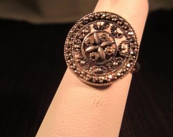 Cool Vintage Sterling Silver Ring - 6