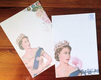 Vintage Queen Elizabeth II Stationery