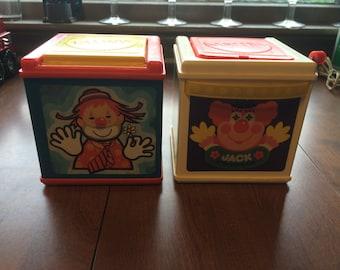 2 Vintage Mattel Jack In The Boxes