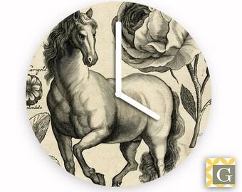 Wall Clock by GABBYClocks - Vintage Horse No 2